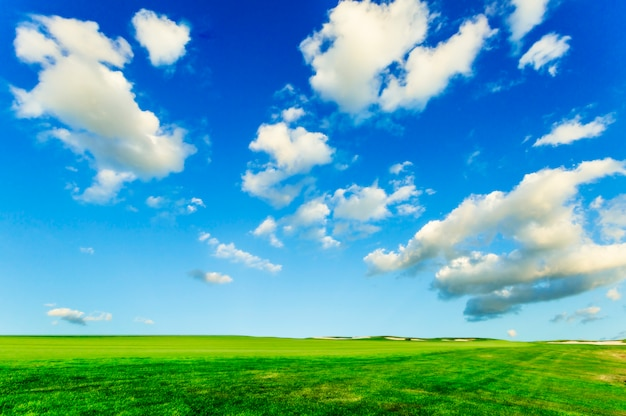 Blue sky and white clouds Free Photo