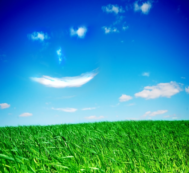 Blue sky with a smiling face Free Photo