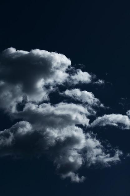 Blue sky with cloud closeup Free Photo