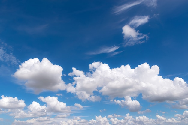 Blue sky with clouds for background or backgrop nature concept Premium Photo