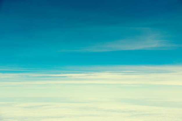 Blue sky with clouds Premium Photo
