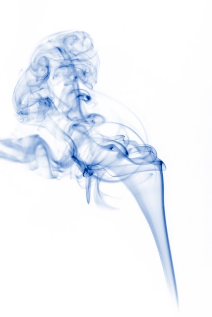Blue smoke collection on white background Free Photo