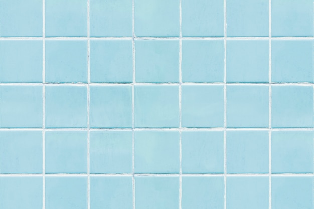 Blue square tiled texture background Free Photo