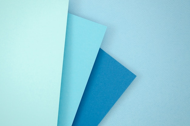 Blue stack polygon paper design Free Photo