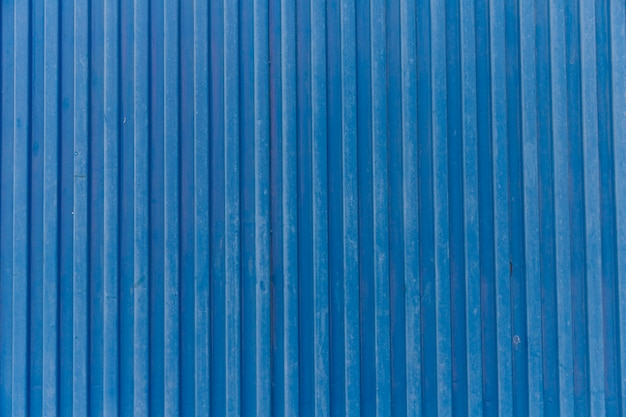 Blue strip corrugated metal background Free Photo