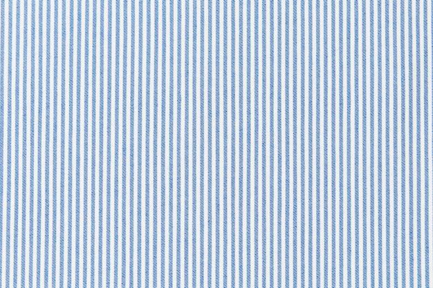 Синяя полосатая линия на белой ткани с текстурированным фоном Premium Фотографии
