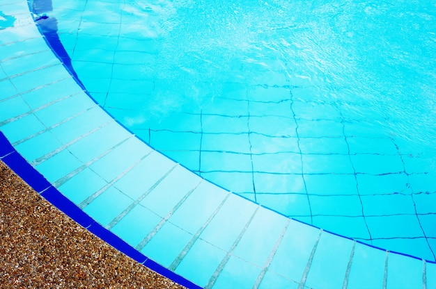 Blue swimming pool with pure transparent water Premium Photo