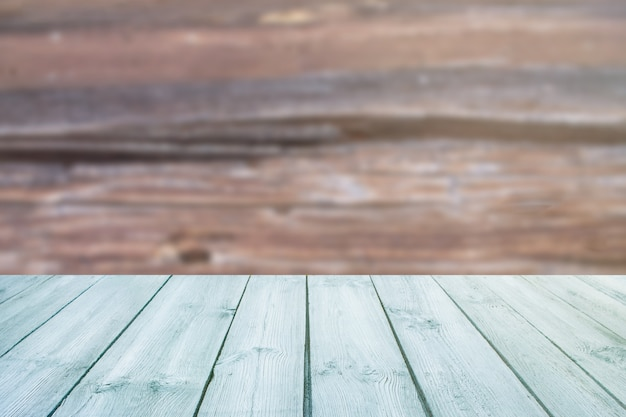 Blue table on blurred background texture wood Premium Photo