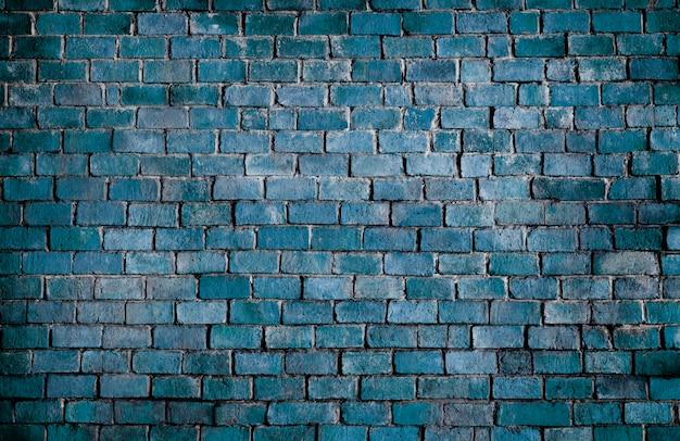 Blue textured brick wall background Free Photo