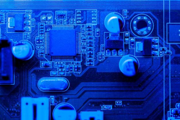 Синяя тематическая плата с чипом Бесплатные Фотографии