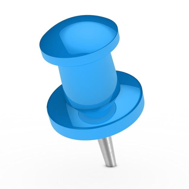 Blue thumbtack Free Photo