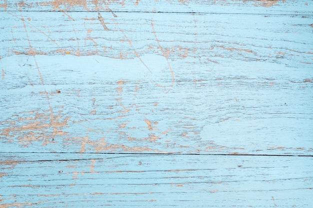 Blue Vintage Wood Textured Background Premium Photo