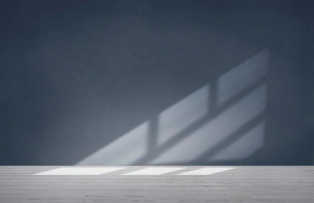 Синяя стена в пустой комнате с бетонным полом Бесплатные Фотографии