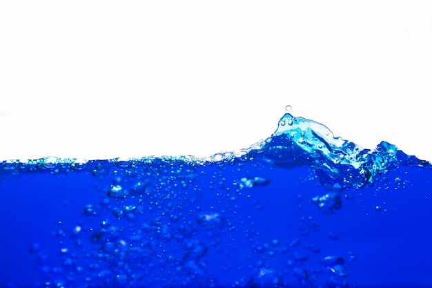 Blue water with bubbles Premium Photo