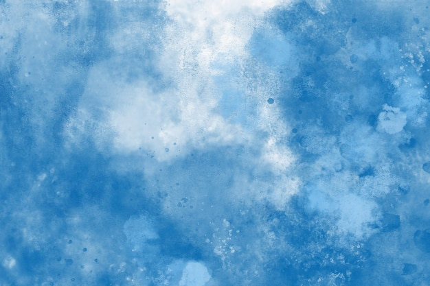Blue watercolor background Free Photo