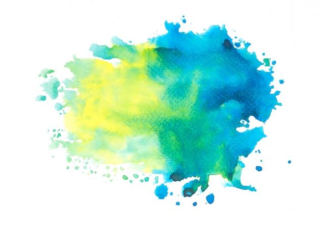 Blue watercolor stain paint stroke background Premium Photo