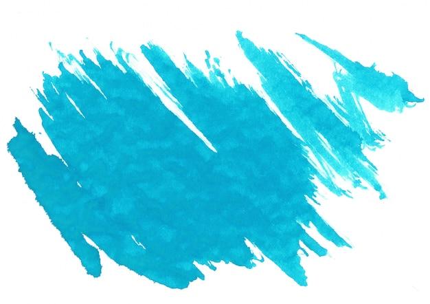 青い水彩汚れ 無料写真