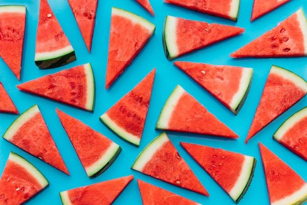 Blue watermelon background Free Photo
