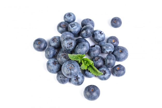 Blueberries isolated on white background Photo | Premium ...