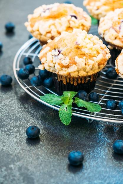 Blueberry muffin Free Photo