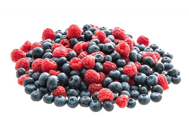 Blueberry and rasberry fruit Free Photo