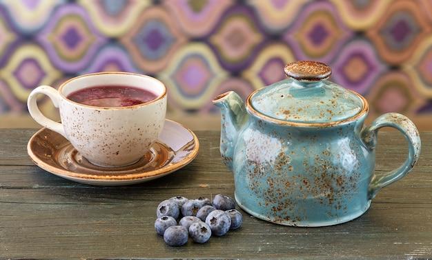 Blueberry tea Free Photo