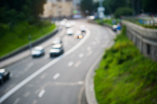 Blur abstract motion of traffic at the city Premium Photo