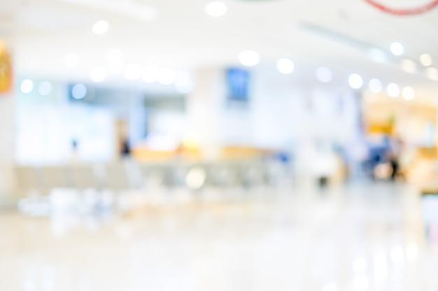 배경 흐림 : 병원에서 대기 의사를 기다리는 환자, 추상적 인 배경 프리미엄 사진