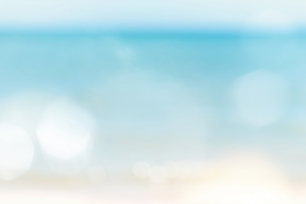 Blur bokeh abstract sea and sky nature background with copy space. Premium Photo