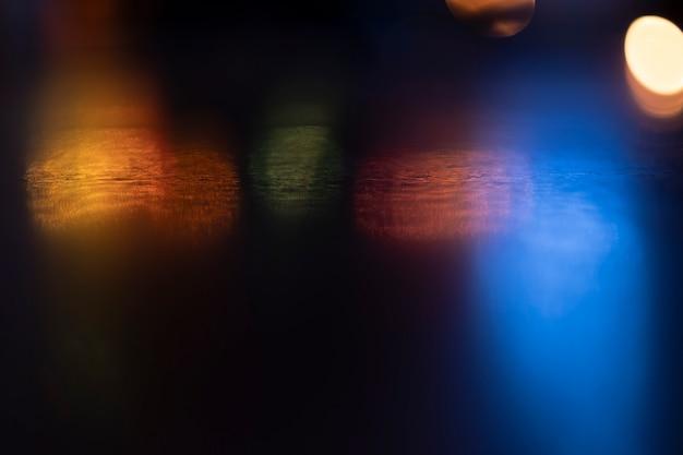 Blur bokeh background of city night light . Premium Photo
