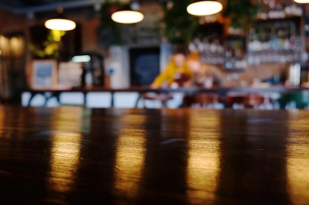 Blur cafe background. pub interior. restaurant Premium Photo