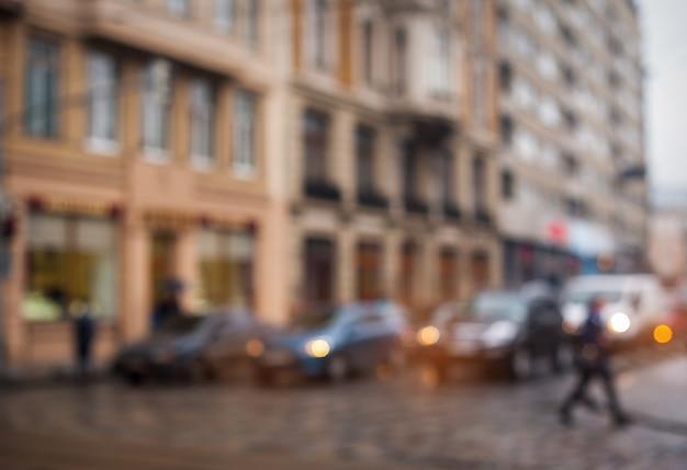 Blur city streets without focus Premium Photo