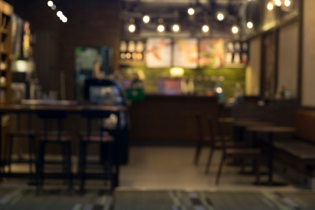 Blur coffee cafe shop restaurant with bokeh background. Free Photo