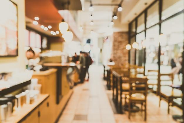 Blur coffee shop interior Free Photo