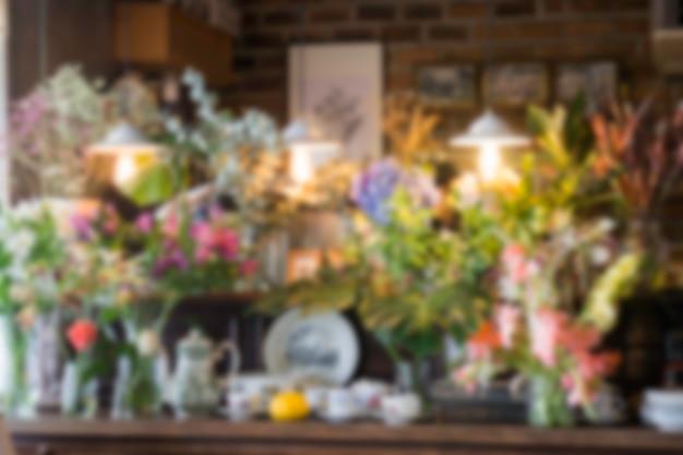 Blur interior green eco environmental background Premium Photo