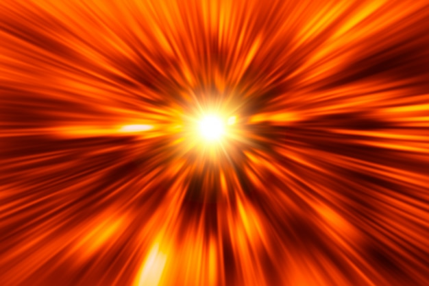 Blur red hot fire power abstract for background Premium Photo