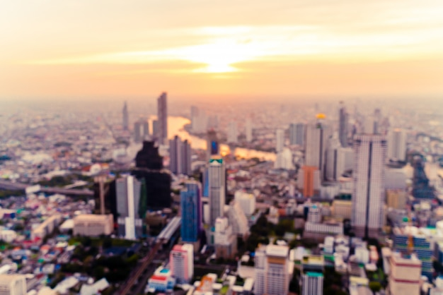 Blur бангкок городской пейзаж в таиланде на закате Premium Фотографии