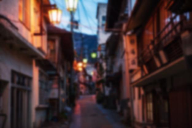 Blurred abstract photo  of yamanouchi onsen tow Premium Photo