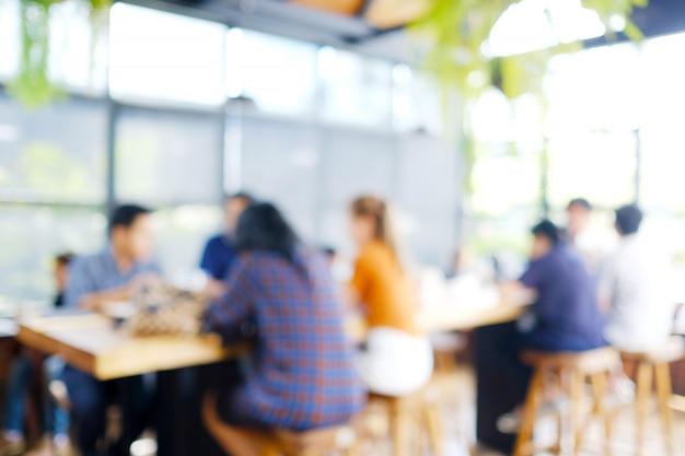 Blurred background : blur co-working space Premium Photo