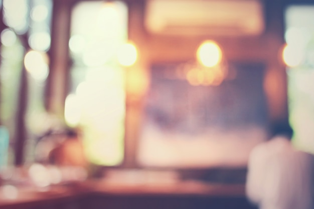 Blurred background : customer at cafe, blur background with bok Free Photo