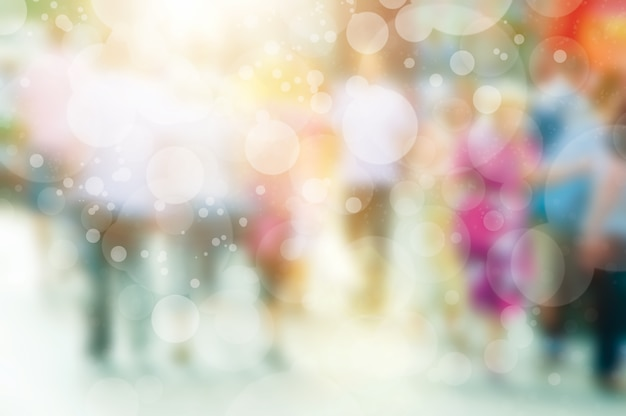 Blurred background with bokeh effect Free Photo