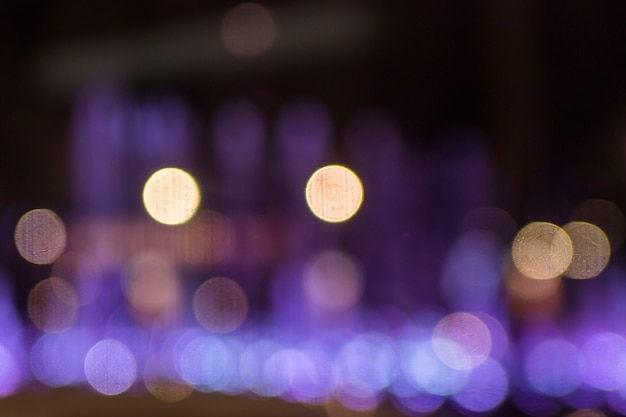 Blurred bokeh lights background Free Photo