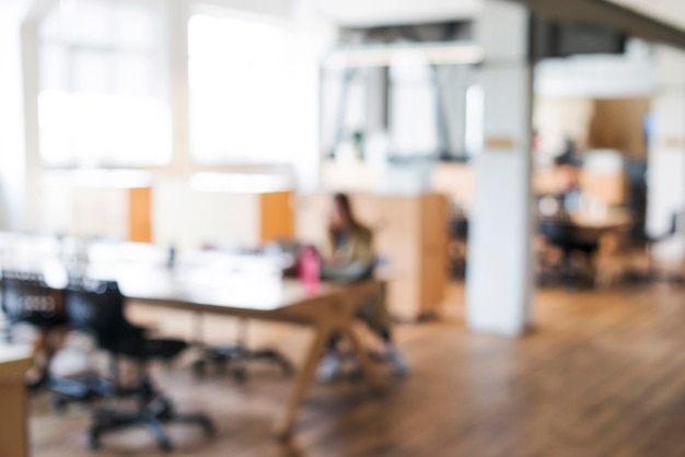 Blurred business workplace background Free Photo