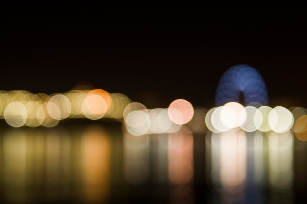 Blurred city lights Free Photo