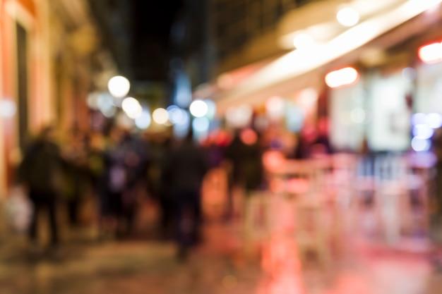 Blurred city lights Free Photo