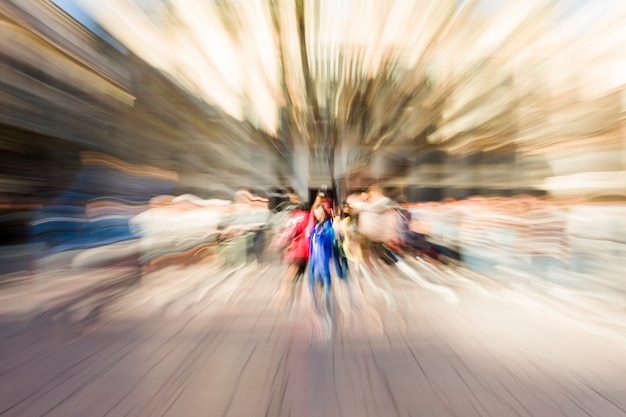 Blurred cityscape Free Photo
