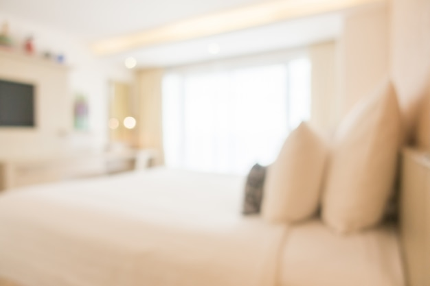 Blurred double bed with furnitures Free Photo