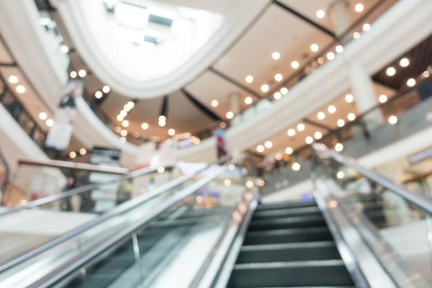 Blurred escalator in a mall Free Photo