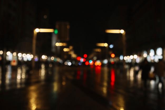 Blurred evening street Free Photo