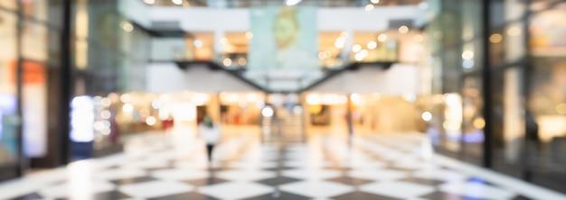 현대 쇼핑몰 배경에서 흐리게 복도입니다. 프리미엄 사진